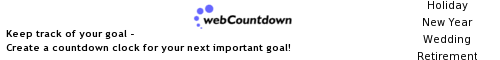Start your own webCountdown